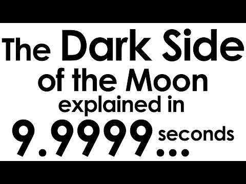 The Dark Side of the Moon explained in ten seconds