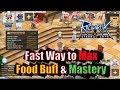 Ragnarok M Eternal Love Fast Way to Max Food Buff & Mastery Status