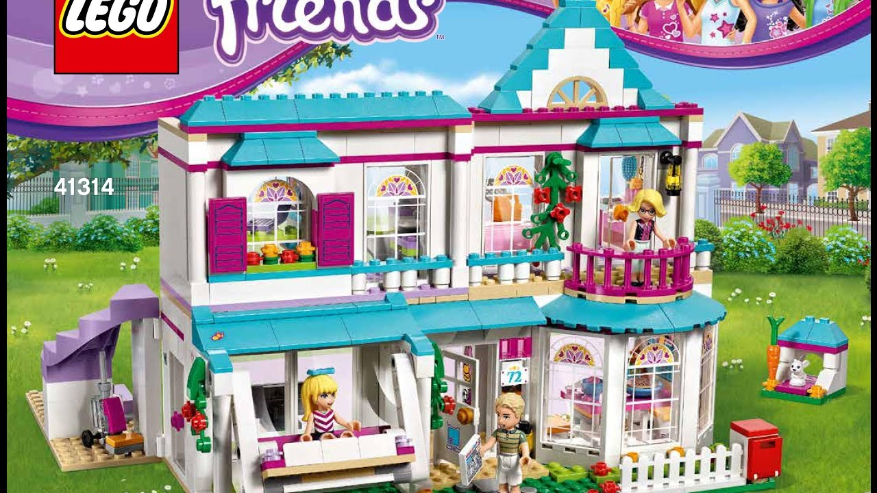 Lego Friends Stephanies House 41314 Instructions Diy Book Youtube
