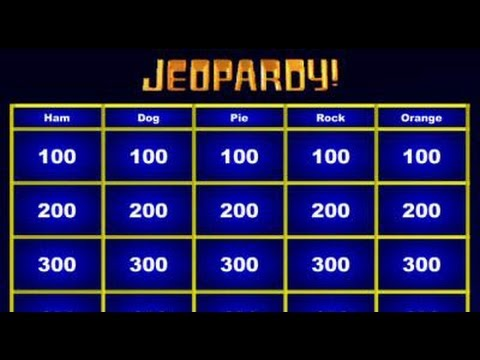 Jeopardy Maker - No Need for Powerpoint - YouTube