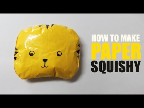 How to make a paper squishy slow rising - Homemade Squishies