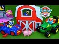 Paw Patrol Toys Rescue Farm Animals John Deere Tractor Funny Toy Stories Play Doh Surprise Eggs Toys