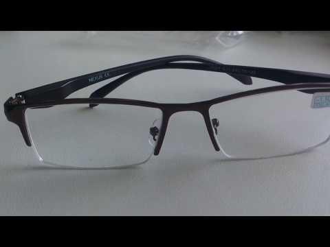 Мужские полуоправные очки для зрения, металлическая оправа