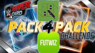 INSANE LUCK! WWE SuperCard S3 PACK 4 PACK OPENING CHALLENGE vs FUTWIZ!