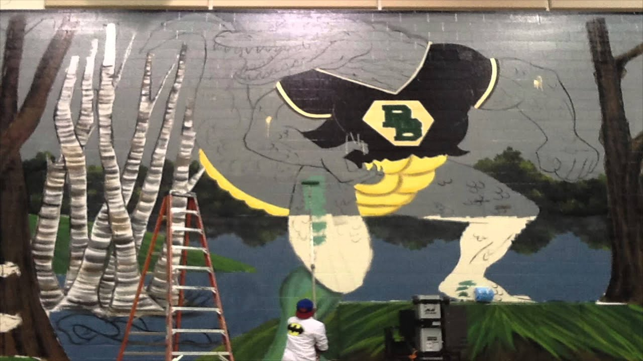 Wonderful Mural Mural On The Wall: Time Lapse (River Bluff High School)