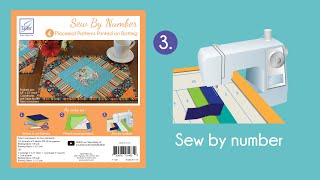Sew By Number Placemat Step 3 - Sew