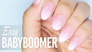 Easy BabyBoomer nails with nail polish // Nail Art Tutorial for Beginners