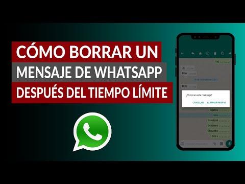 Cómo Borrar un Mensaje de WhatsApp Después del Tiempo Límite