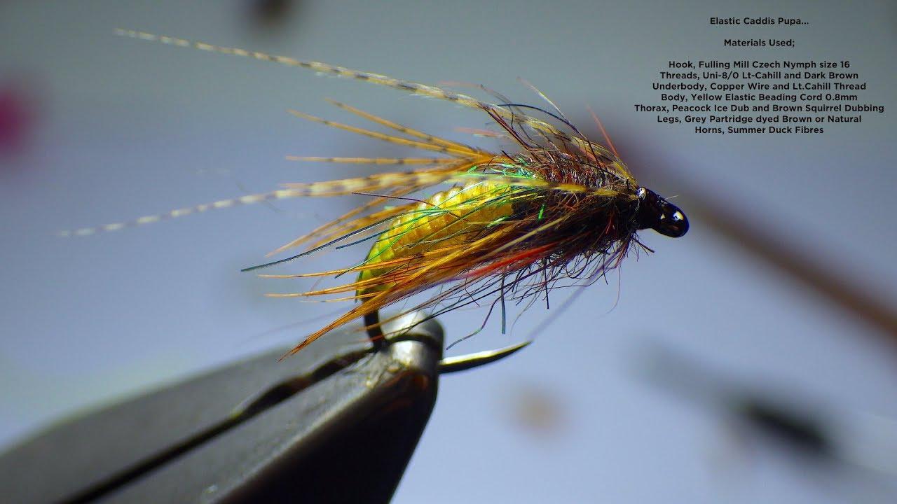 6 Chartreuse Caddis Larva Fly Size 8
