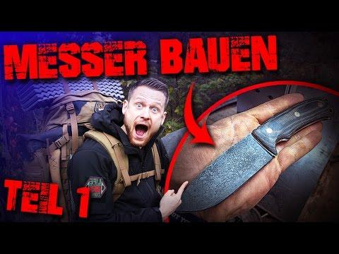 MESSER SELBER BAUEN - Teil1 - Outdoor Survival Bushcraft - schleifen schärfen schmieden