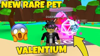 🍬 I got the New Valentium Pet in Bubble Gum Simulator- ROBLOX Bubble Gum Simulator Update 15! 🍬