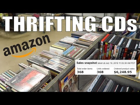 How I Sell Over $6000 a Year of CDs on Amazon FBA | Thrifting Mp3