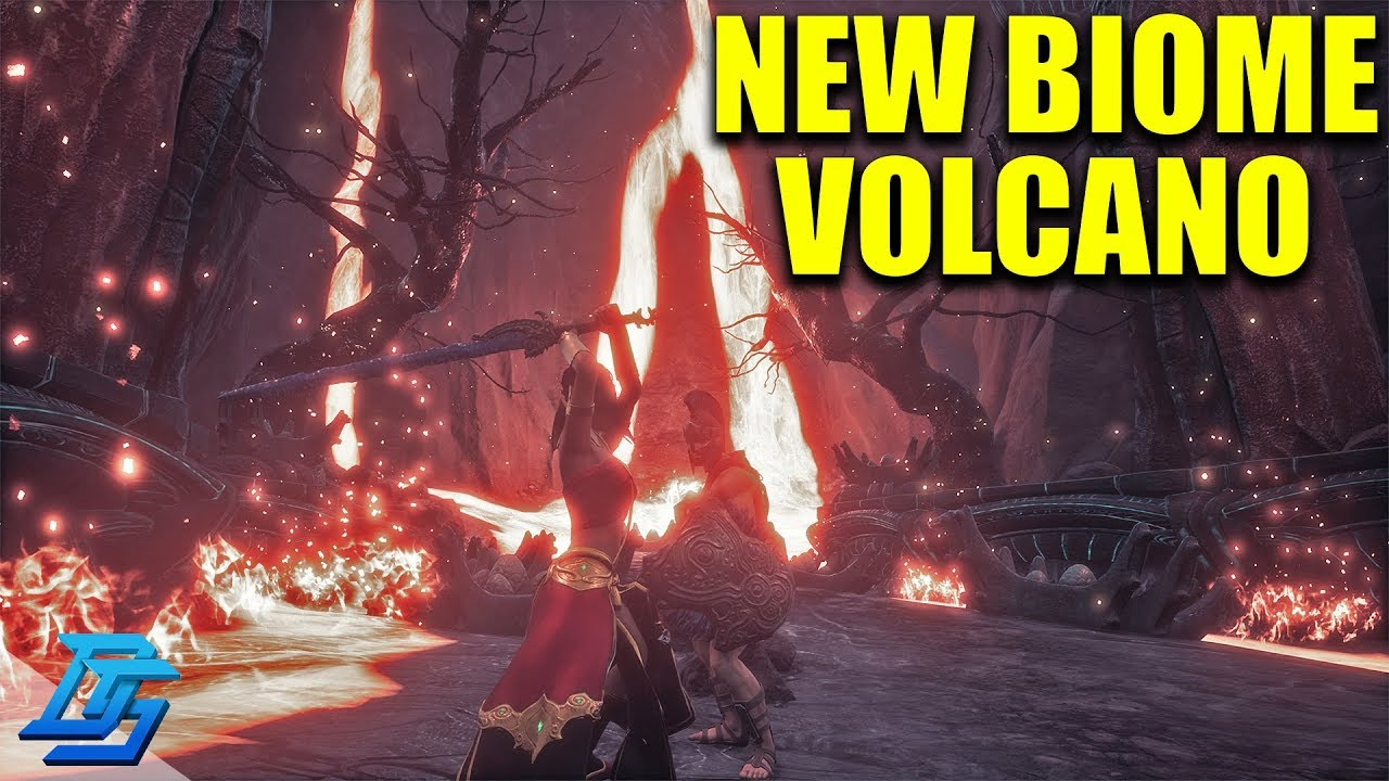 INTO THE VOLCANO, NEW BIOME, MASS THRALL ATTACK - Conan Exiles - S2 - Pt 13