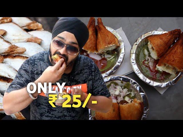 ₹25 Pandit Ji Ke Crispy SHOLAY 😋🔥 | Dahi Ke Sholay, Paneer Sholay, Cheese Sholay in INA, New Delhi