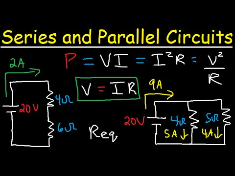 Series and Parallel Circuits For Kids -  Problems & Calculations Physics - Electrical Current