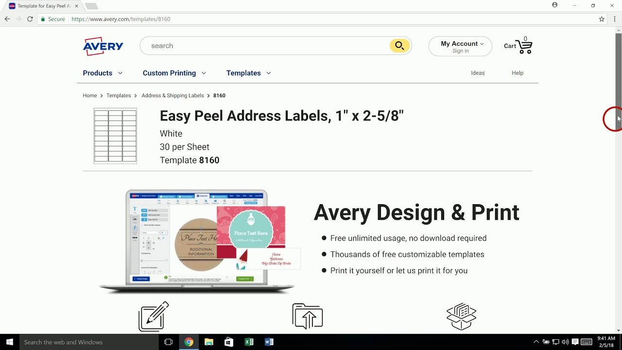 Avery Templates In Microsoft Word Avery Com