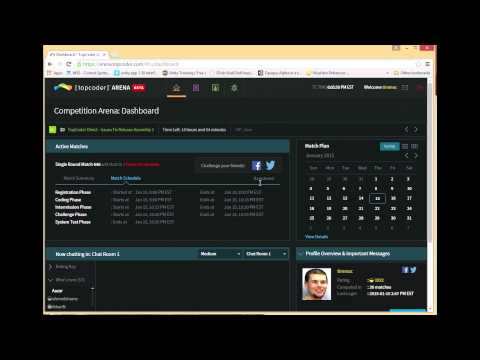 How to use topcoder arena