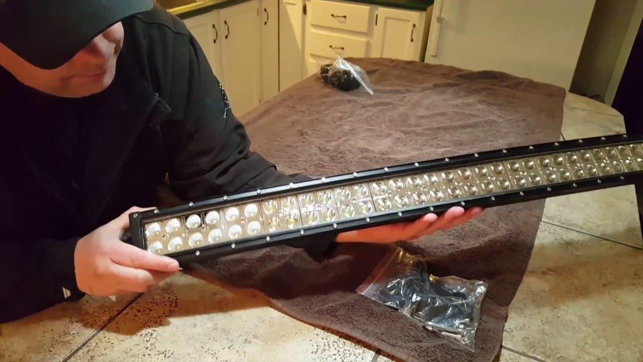 Ebay amazon 42 curved led light bar youtube aloadofball Choice Image