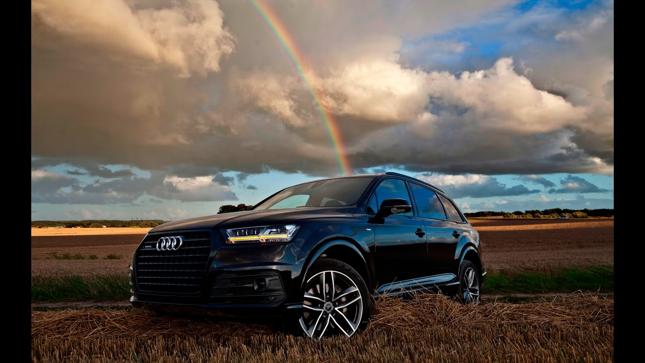 2017 Audi Q7 3 0tdi Quattro S Line Black On Country Driving Scenes Details And Interior You