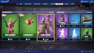 *NEW* KING FLAMINGO SKIN! July 5 New Skins - Fortnite Item Shop Live (Fortnite Battle Royale)
