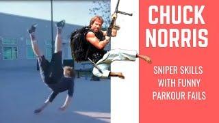 Chuck Norris BEST SNIPER VS PARKOUR