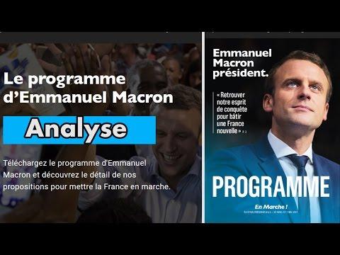Présidentielle 2017 : Analyse du programme de Macron.