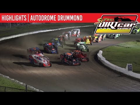 Super DIRTcar Series Big Block Modified Feature Event Highlights from Autodrome Drummond in Drummondville, Quebec, Canada on July 22nd, 2019. - dirt track racing video image
