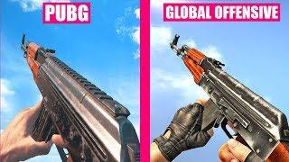 Counter-Strike Global Offensive Gun Sounds vs PlayerUnknown Battlegrounds