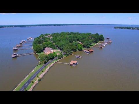 AERIAL Video 104 Enchanted Isles Cedar Creek Lake Mabank, TX 75156