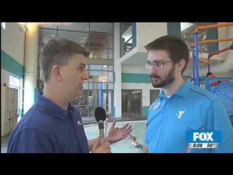 KHQ Matt Rogers Visits Central Spokane YMCA Pool