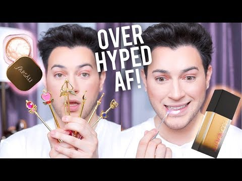 TESTING OVER HYPED MAKEUP! Jelly Beam Highlight, Huda Beauty Foundation, ETC!