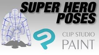 Super Hero Poses for Clip Studio Paint Pro