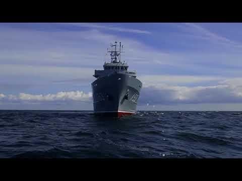 """No dežūras NATO 1.pastāvīgajā jūras pretmīnu grupā sagaidīts Jūras spēku kuģi """"Virsaitis"""""""