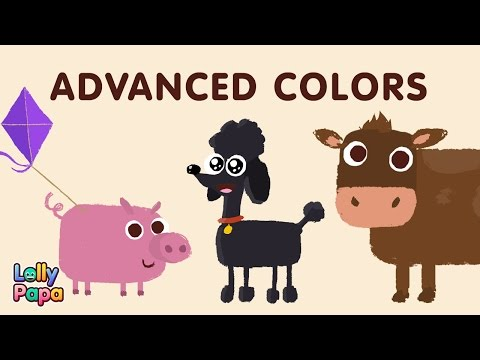 Learn Colors Song - advanced | Fun educational songs and videos for Children | Learn with Lollypapa