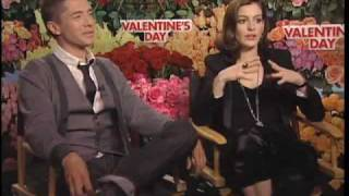 Topher Grace and Anne Hathaway Valentine' s Day interview