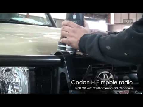 High Frequency Radio Installation on a Toyota Land Cruiser 79 Pick-Up