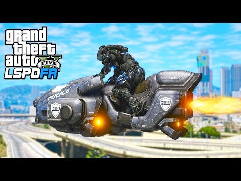 Futuristic COP From Year 2300!! (GTA 5 Mods - LSPDFR Gameplay)