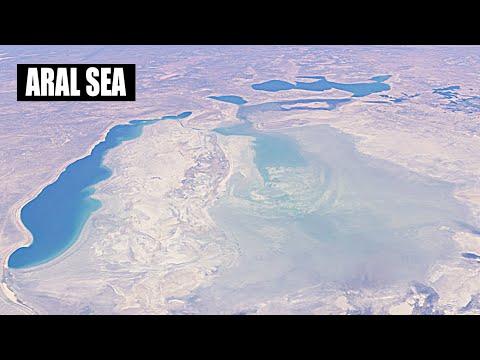 Aerial view of Aral Sea || Aral Sea time lapse || Aral Sea crises