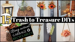 DIY RECYCLE CRAFTS 💚 TRASH TO TREASURE Reuse & repurpose paper bags, plastic, condiment jars, boxes
