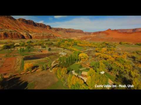 Drone's Eye View of Castle Valley, Utah