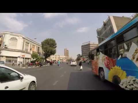Ride in downtown of TEHRAN ( Iran ) for fun