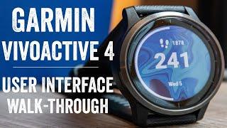 Garmin Vivoactive 4 Detailed User Interface Walk-Through