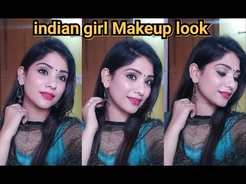 Indian girl makeup look || simple traditional indian makeup || shy styles