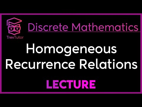 [Discrete Math 2] Homogeneous Recurrence Relations