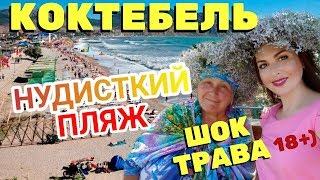 Крым Коктебель 2019. По*бень трава. Нудисткий пляж. Канализация и разрушенная набережная. Цены.