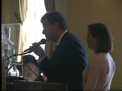 Jaime Gilinski, Colombia born, speaks at the Chabad House at Harvard University