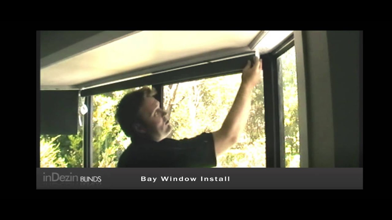 Bay window blinds - Roller Blind And Bay Window Installation Video