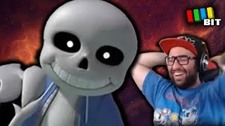 SANS UNDERTALE IN SMASH REACTION! (How is this real?) [TetraBitGaming]
