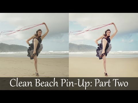 Adobe Photoshop Tutorials CS6 How to Clean Model Pin-up Beach Retouch ...