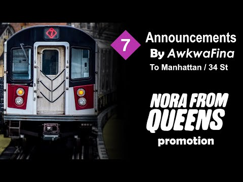 ᴴᴰ Offical Awkwafina 7 Express Train Comedy Announcements To 34 Street - Nora From Queens Promotion
